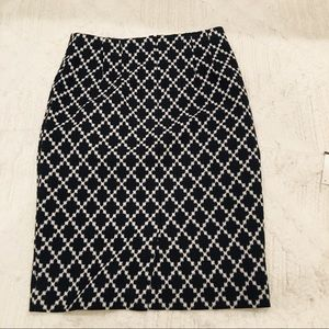 Ann Taylor Pencil Skirt with X-Pattern
